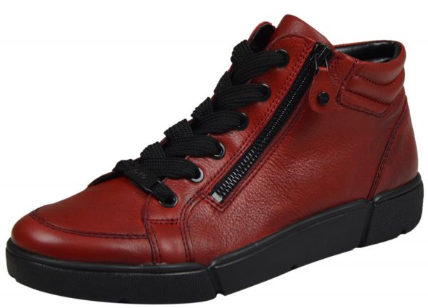 Ara Rom-St High-Soft Damen High Top Sneaker rot ( rubin )