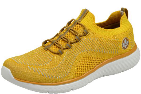 Rieker N9474-68 Damen Sneaker gelb