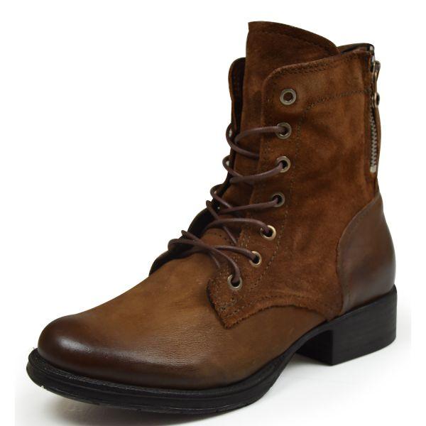 Olip 185630 Damen Combat Boots brandy/ toscano