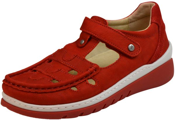 Wolky 0485411 Byte Damen Halbschuhe denim red summer (rot)
