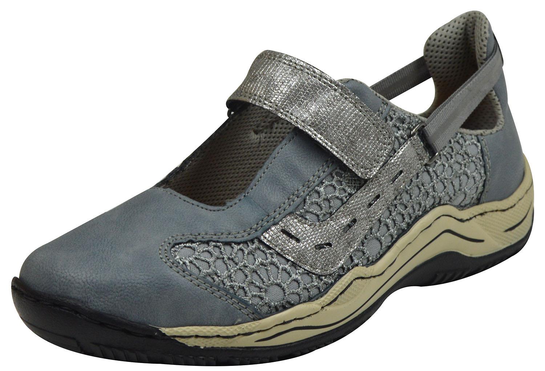 Rieker L0578 Damen Sneaker blau kombi | Schuhpyramide HxTdi