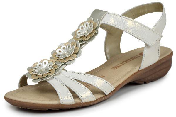 Remonte R3657-90 B-Ware Damen Sandalen mit Klettverschluss silber / platin