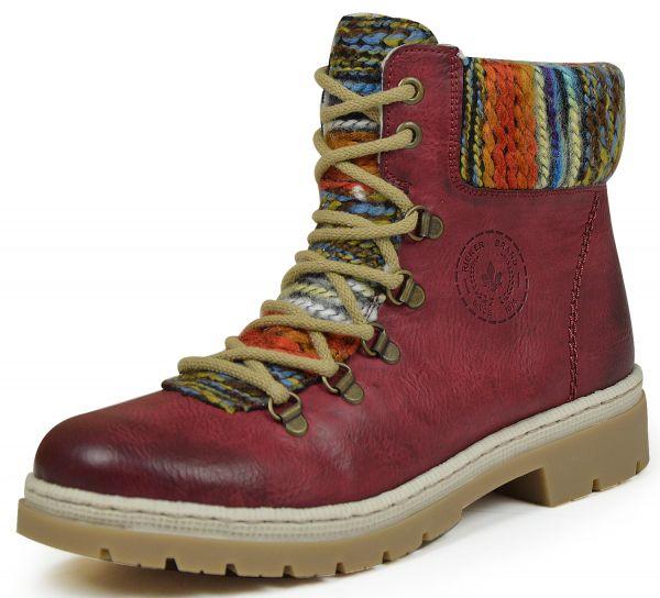 Rieker Y9432-35 Damen Boots Warmfutter rot kombi