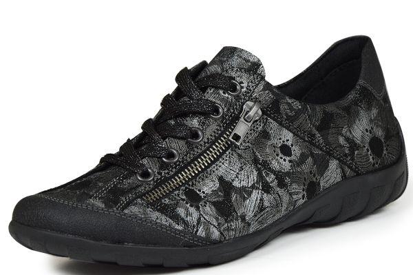Remonte R3421-02 Damen Sneaker Wechselfußbett schwarz kombi