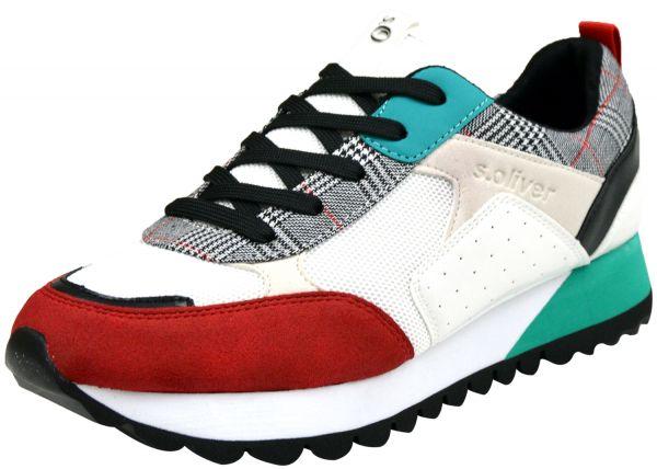 s.Oliver Soft Foam 5-23614-33 Damen Sneaker rot kombi ( red combi )
