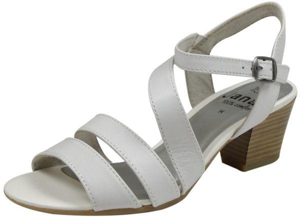 Jana 8-28312-24 Damen Sandaletten Weite H weiß