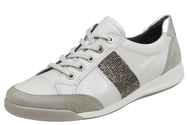 Ara Rom 34429 Damen Sneaker kiesel, weiss, silber