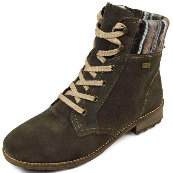 Remonte R3363-42 Damen Combat Boots Tex Membrane Wechselfußbett grau kombi