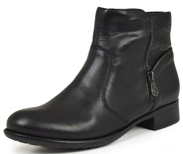 Remonte R6489-02 Damen Stiefeletten Wechselfußbett schwarz