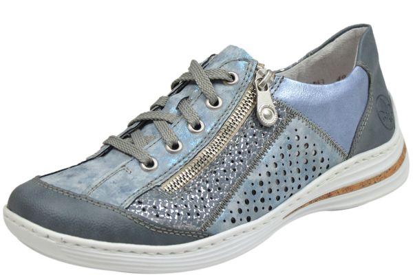Rieker M35G6-12 Damen Sneaker blau