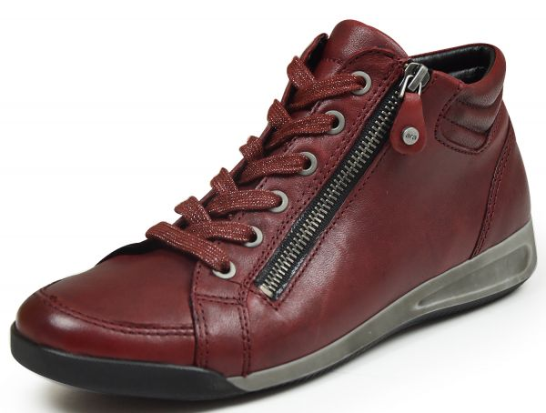 Ara 12-44410-17 Rom Damen high top Sneaker rubin ( bordo )
