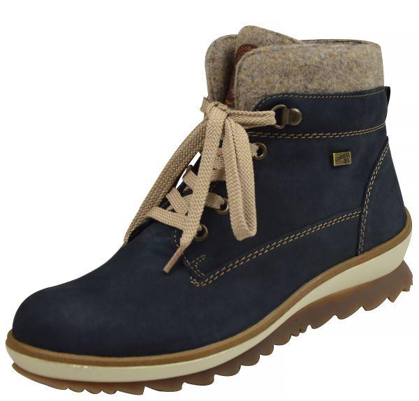 Remonte R4370-14 Damen Schneestiefel Tex Membran Lammwolle blau