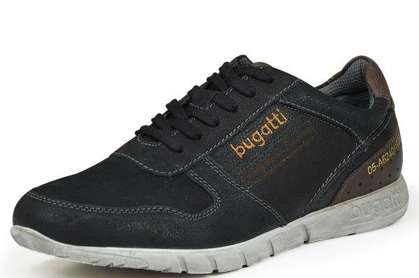 bugatti K2401PR5 Herren Sneaker schwarz/ cognac