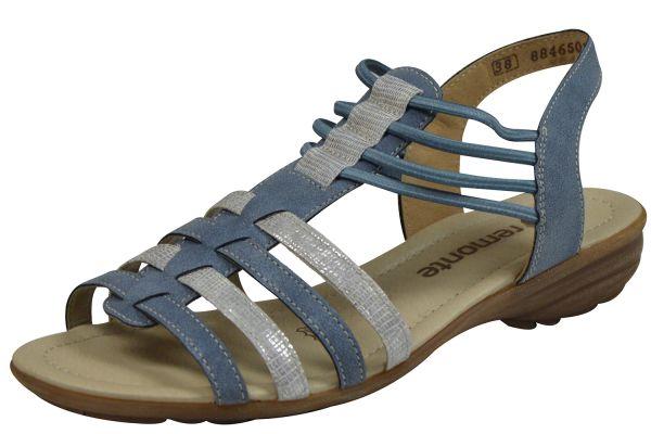 Remonte R3630-12 Damen Sandalen blau kombi