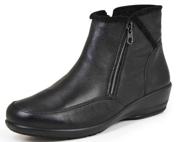 Comfortabel 990838 Damen Stiefeletten Wechselfußbett schwarz