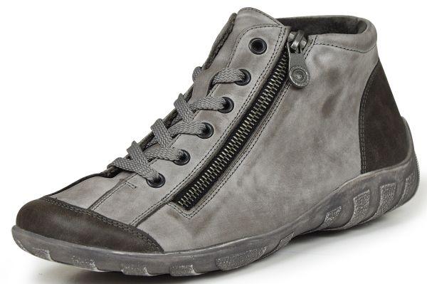 Remonte R3475-42 Damen high top Sneaker Wechselfußbett grau kombi