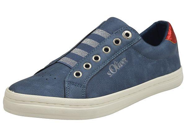 s.Oliver 24622 Damen Sneaker blau ( navy )