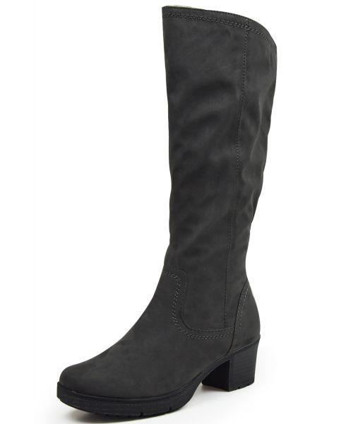 Jana 8--25662 Damen Langschaft Stiefel Soft Line Weite H, grau (asphalt)