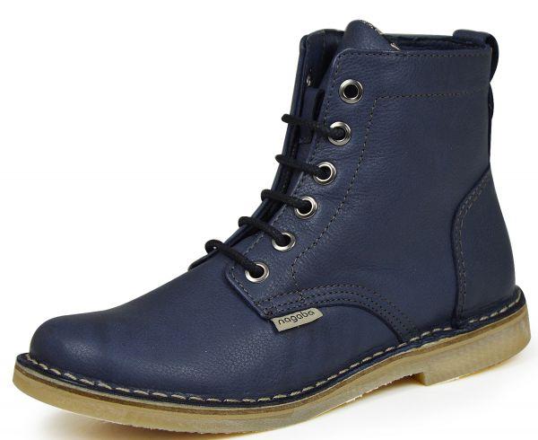 Nagaba H16N087-5 Damen Combat Boots blau