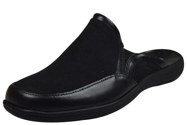 Romika Royal 04 Herren Pantoffeln schwarz