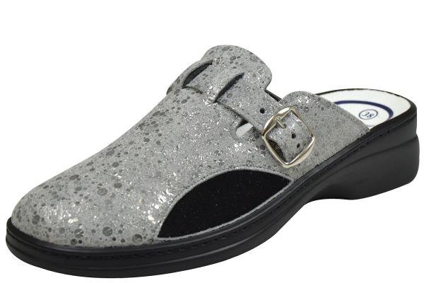 Algemare 5925 Damen Pantoffeln/ Clogs mineral / schwarz