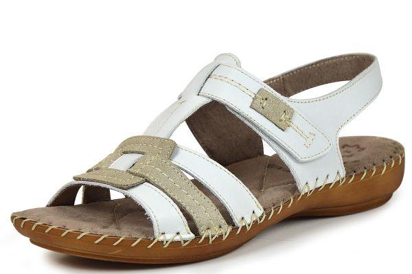 Jana 8-28109-26 Damen Sandalen mit Klettverschluß Weite H weiß