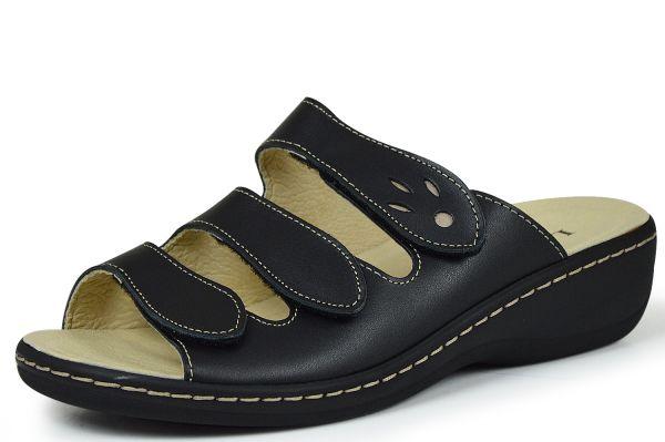 Longo 7523/39206 Damen Pantoletten Wechselfußbett schwarz