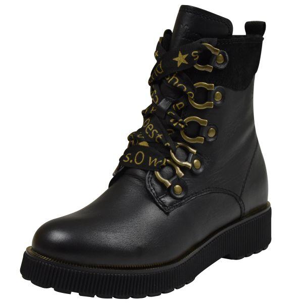 s.Oliver 26263 Damen Biker Boots schwarz