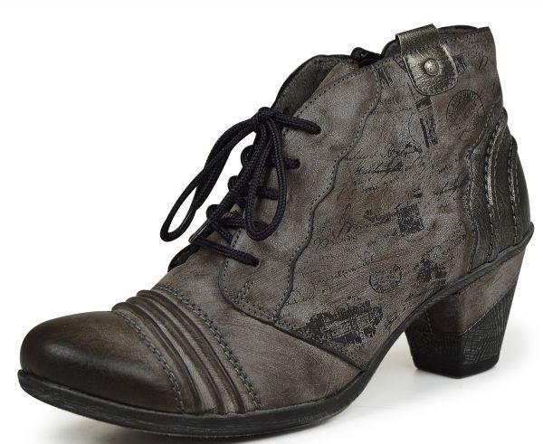Remonte D8771-25 Damen Combat Boots grau kombi