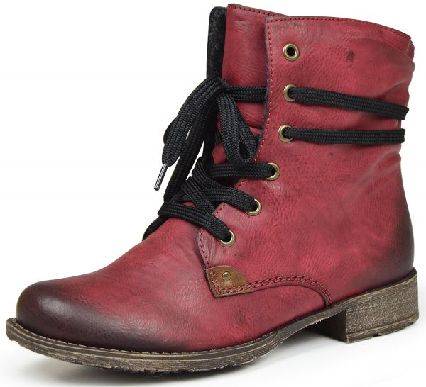 Rieker 70829-35 Damen Stiefel rot