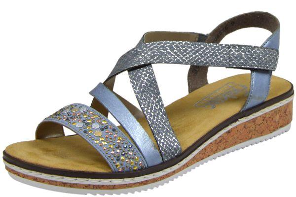 Rieker V3663-10 Damen Sandalen blau