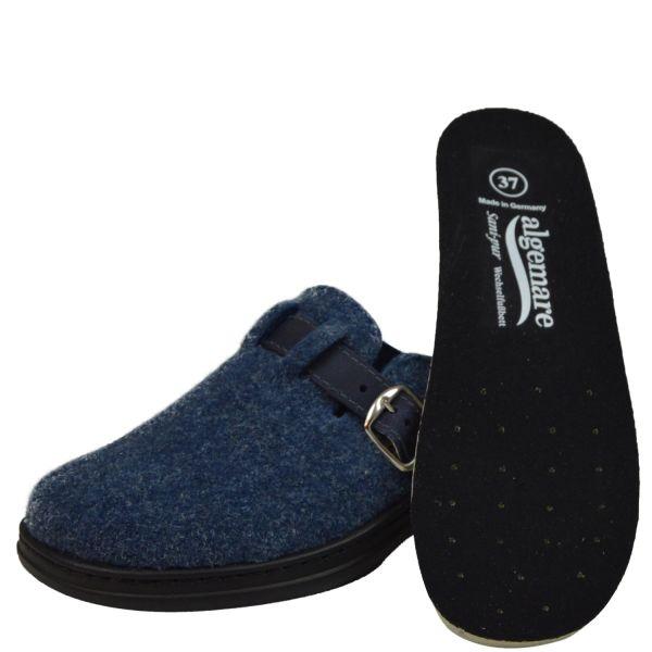 Algemare 8132-811 Damen Pantoffeln Wechselfußbett blau (atlantik)