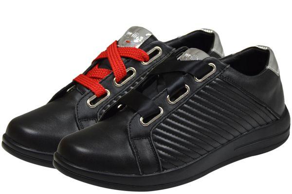 Wellbe Rimini Damen Schnürschuhe schwarz