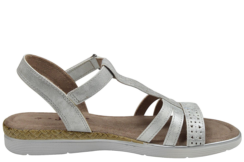 jana 28214 damen sandalen weite h silber schuhpyramide. Black Bedroom Furniture Sets. Home Design Ideas