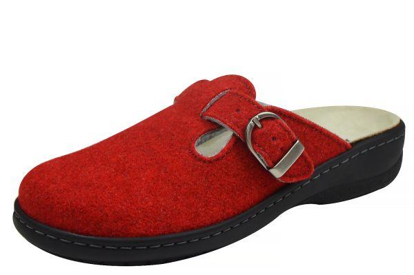 Longo 1005365 Damen Pantoffeln Wechselfußbett rot