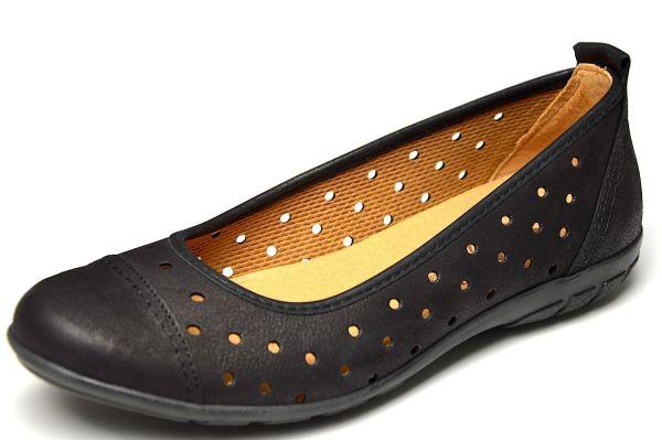 Franken Schuhe 2252 Damen Ballerina schwarz