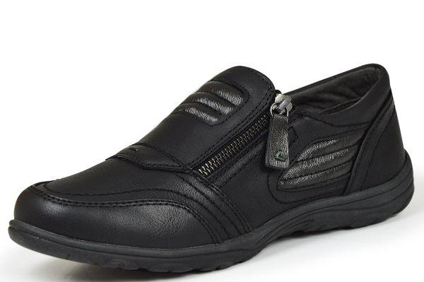 Jana Soft Line 8-24662-27 Damen Sneaker Weite H schwarz