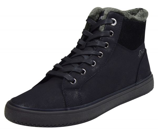 s.Oliver 5-26208-21 Damen High Top Sneaker blau ( navy comb )