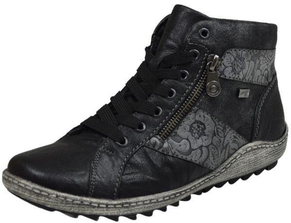 Remonte R1497-45 Damen High Top Allwetter Sneaker schwarz kombi