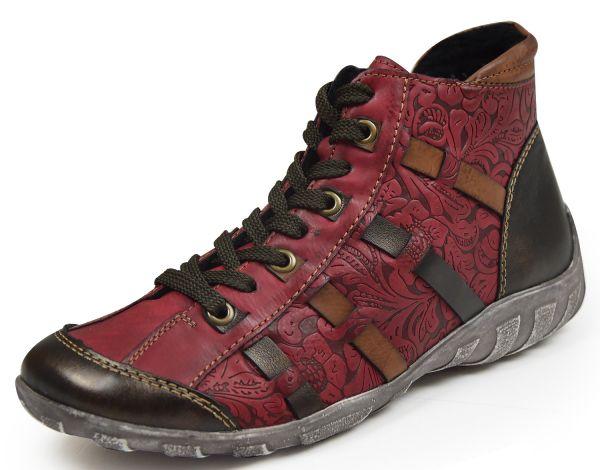 Remonte R3486-35 Damen High top Sneaker Wechselfußbett rot kombi