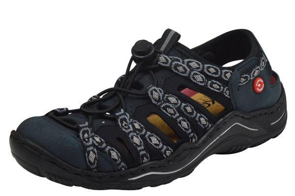 Rieker L0577-15 Damen Sneaker mit Fersenriemen blau