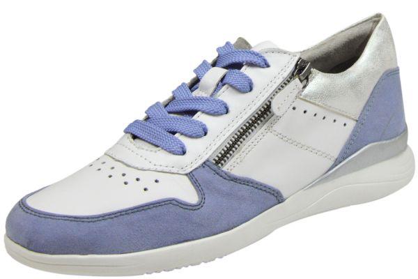Jana 8-23751-24 Damen Schnürschuhe Weite H blau/ weiß ( blau )