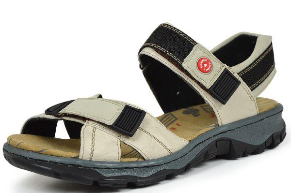 Rieker 68851-60 Damen Sandalen mit Klettverschluss beige