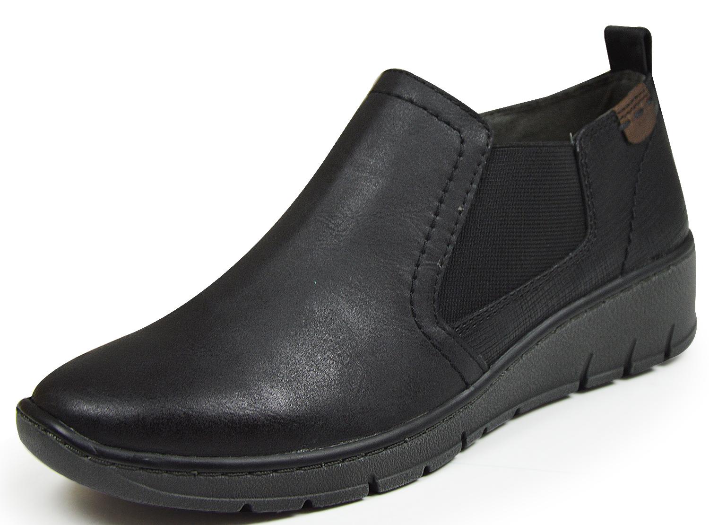 on sale 24fef cb958 Jana 24304 Damen Chelsea Boots Slipper Weite H schwarz