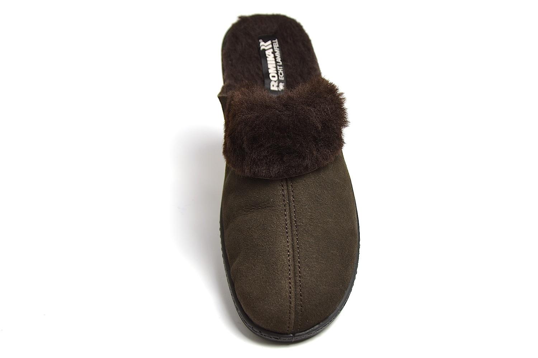 brand new 0d7bc 69e9d Romika Romilastic 306 Damen Pantoffeln - gewachsenes Lammfell- mokka