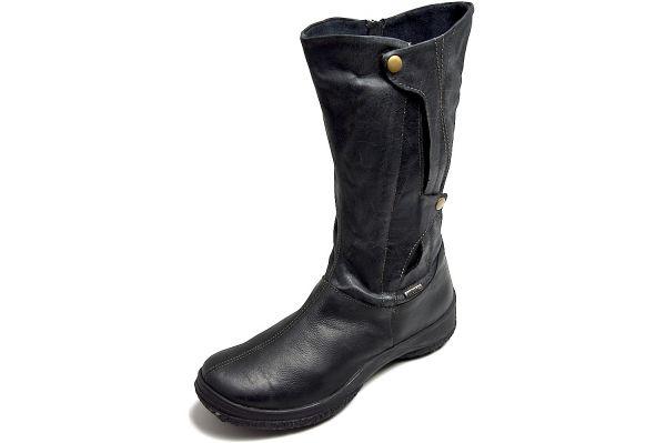 Romika Spike L103 Damen Schneestiefel - ausklappbare Spikes- schwarz