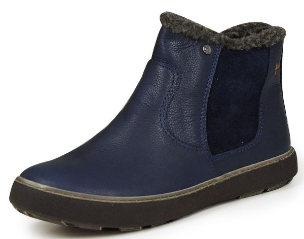 Nagaba H16N348-5 Damen Kurzschaft Stiefel dunkel blau