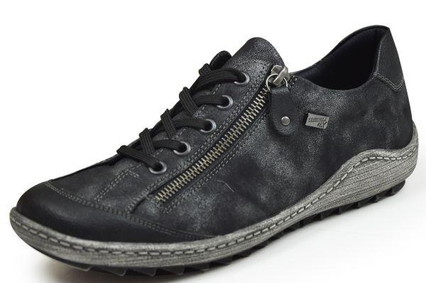 Remonte R1402-02 Damen Allwetter Sneaker Wechselfußbett schwarz/graphit