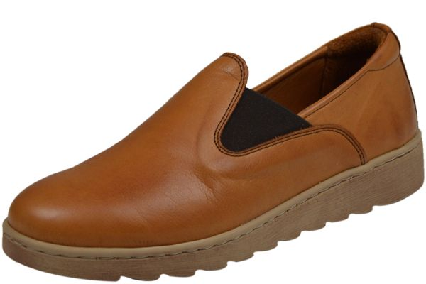 Gemini 350518-02/303 Damen Komfort Slipper braun ( tan )