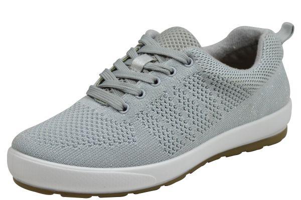 Grünwald P-8762 Damen Sneaker Wechselfußbett grau